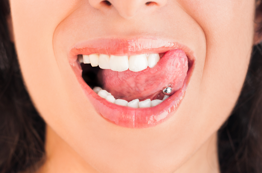 The Placerville Dental Group wants you to know that tongue piercings are hazardous to your dental health.