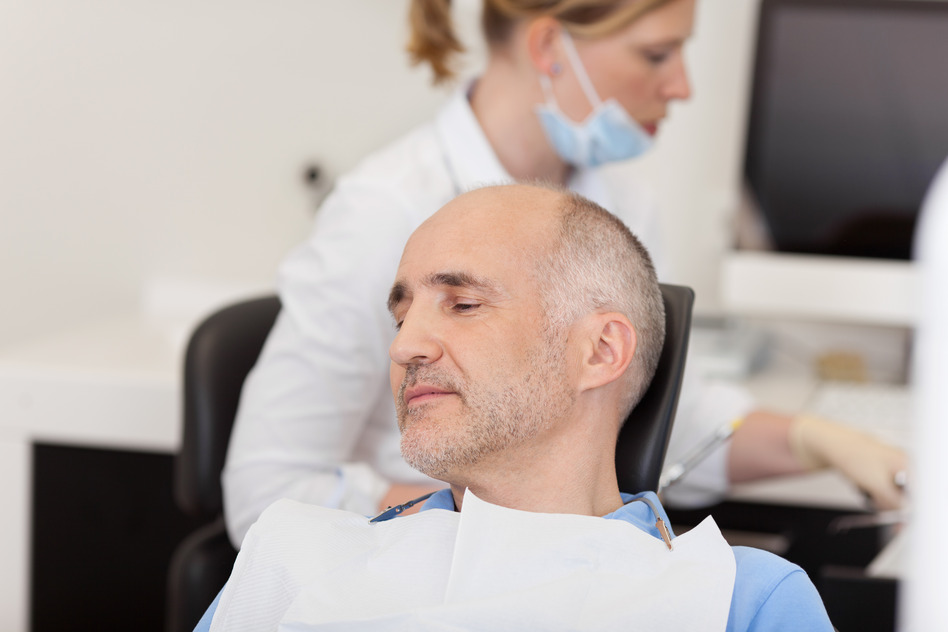 How can you relax when in the dental chair?