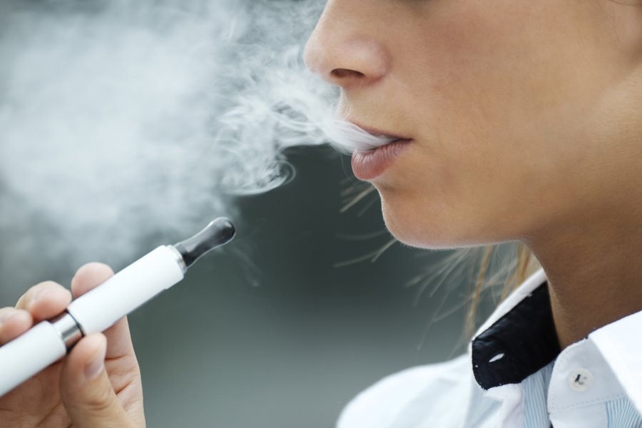 E-cigarettes can contain harmful substances that damage oral tissues, like your gums.
