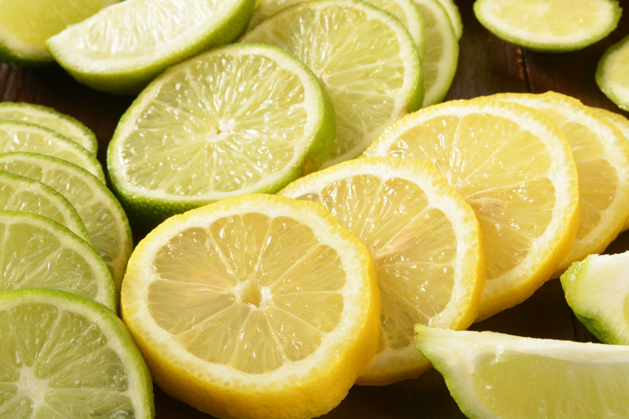 Lemon and lime contains citric acid.