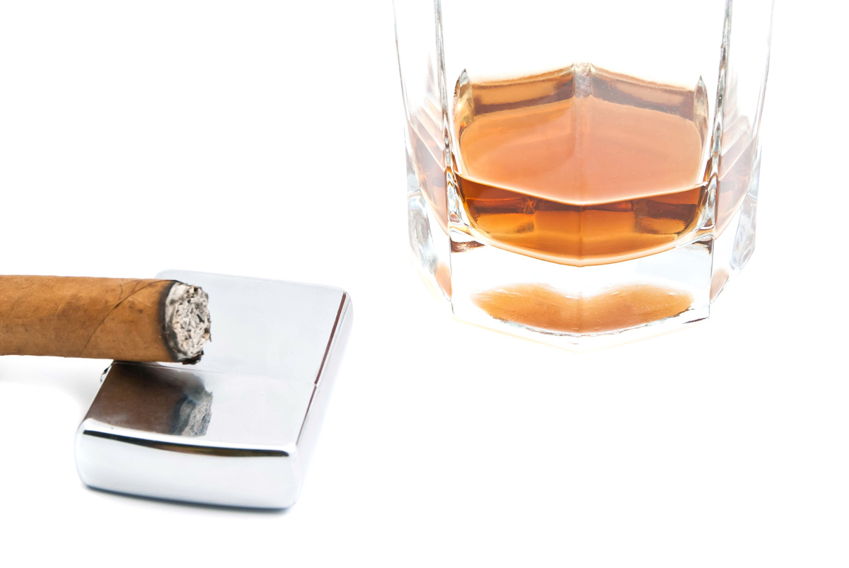 Alcohol and tobacco together greatly increase your oral cancer risk.