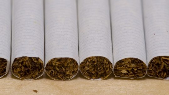 Cigarettes are a leading risk factor for oral cancer.