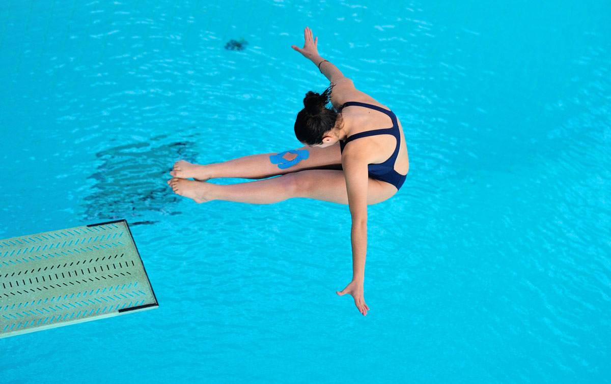 Diving into pools must be done safely to prevent dental injuries.